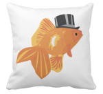 a fish in a hat cushion